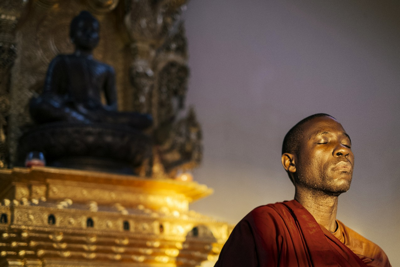 The First Buddhist Monk in Uganda