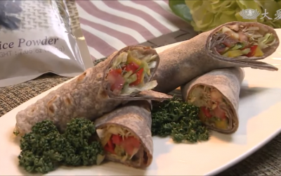 Black Rice Flour Tortilla Wraps
