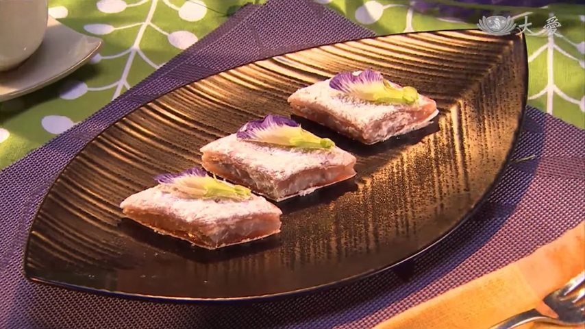 Lotus Root Cakes with Taro