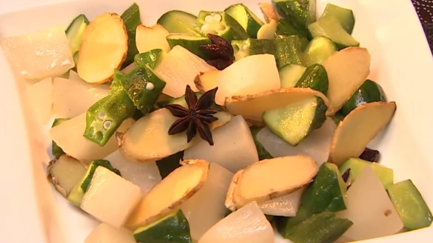 Simmered Vegetables with Camellia Oil